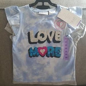 NWT Blush Flippable Sequins 2 piece girls t-shirts